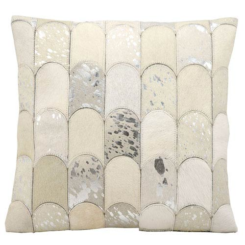 White and Grey 20-Inch Decorative Pillow