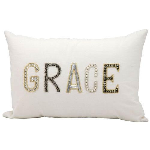 White 12 x 18-Inch Decorative Pillow