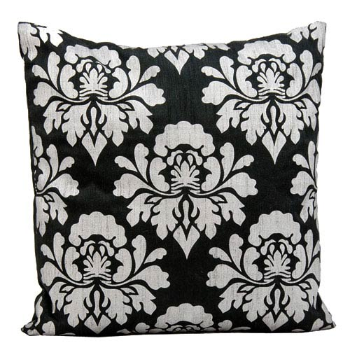 Black and Silver 18-Inch Decorative Pillow