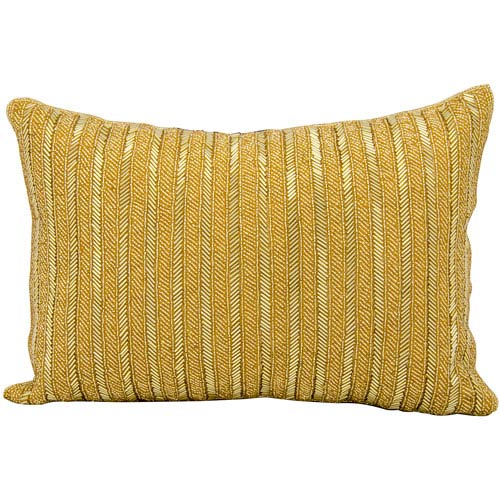 Gold 10 x 14-Inch Decorative Pillow