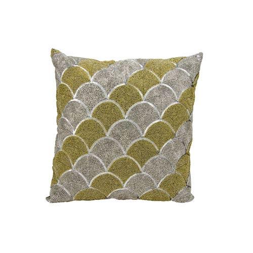 Michael Amini Silver And Gold 18 Inch Decorative Pillow