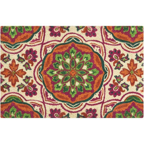 Waverly Rugs Greetings Tapestry Clay Rectangular: 1 Ft. 6 In. x 2 Ft. 4 In. Doormat