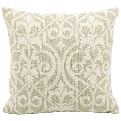 Life Styles Lace Light Green 18 In. Throw Pillow