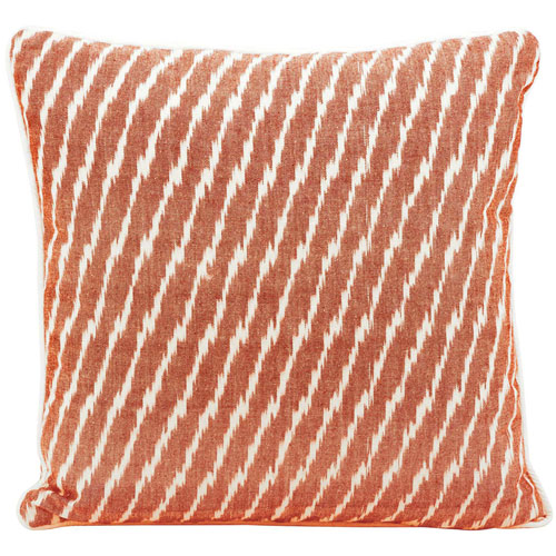 Life Styles Ikat Orange 18 In. Throw Pillow