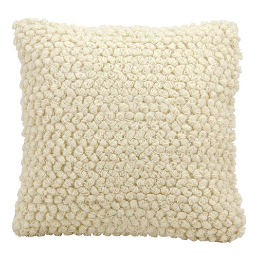 Mina Victory Life Styles Thin Group Loops Ivory 20 In. Throw Pillow