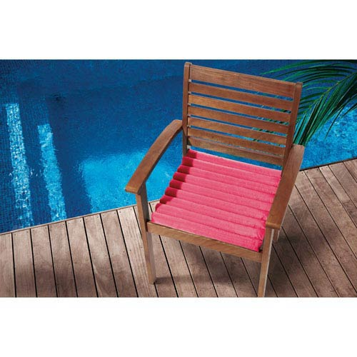 Hot Pink Seat Cushion 17 In. Outdoor Seat Cushion
