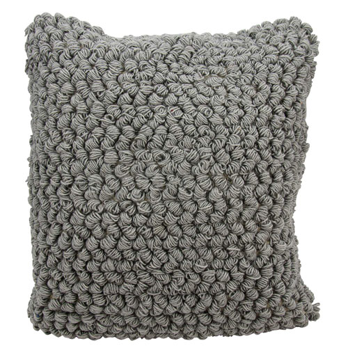 Mina Victory Life Styles Thin Group Loops Light Grey 20 In. Throw Pillow