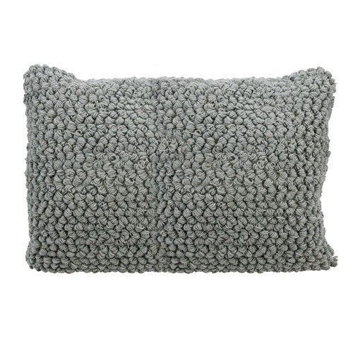 Mina Victory Life Styles Thin Group Loops Light Grey 14 x 20 In. Throw Pillow