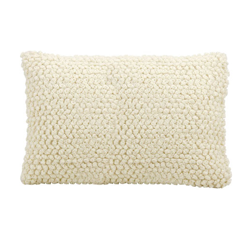 Life Styles Thin Group Loops Ivory 14 x 20 In. Throw Pillow