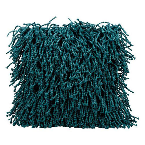 Shag Skinny Fugga Teal 20 In. Throw Pillow