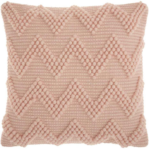 Mina Victory Life Styles Large Chevron Rose 20 In. Throw Pillow