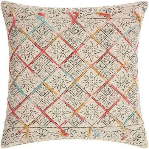 Life Styles Tile Stonewash Multicolor 20 In. Throw Pillow