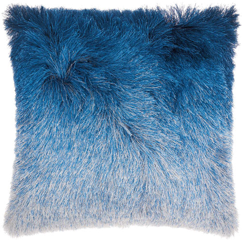 Shag Illusion Shag Indigo 20 In. Throw Pillow