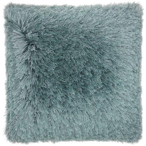 Shag Yarn Shimmer Shag Celadon 20 In. Throw Pillow
