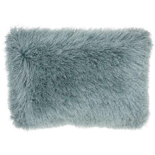 Shag Yarn Shimmer Shag Celadon 14 x 20 In. Throw Pillow