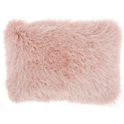 Shag Yarn Shimmer Shag Rose 14 x 20 In. Throw Pillow