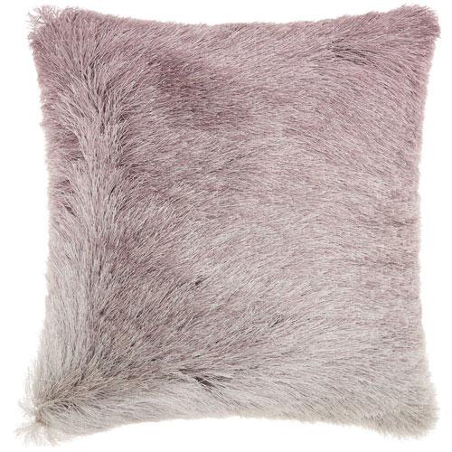 Mina Victory Shag Illusion Shag Lavender 20 In. Throw Pillow