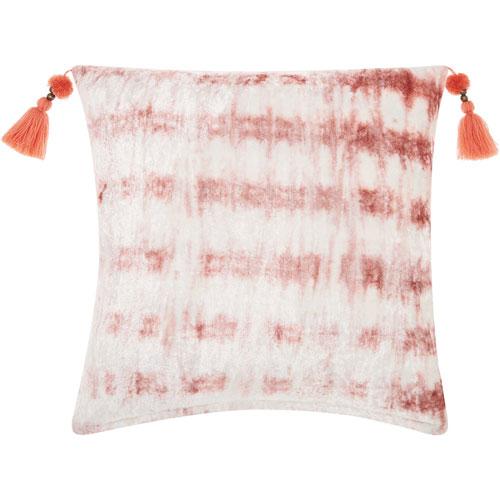 Life Styles Velvet Tie Dye Rose 20 In. Throw Pillow