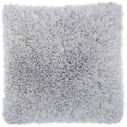 Shag Lush Yarn Light Grey 18 In. Throw Pillow