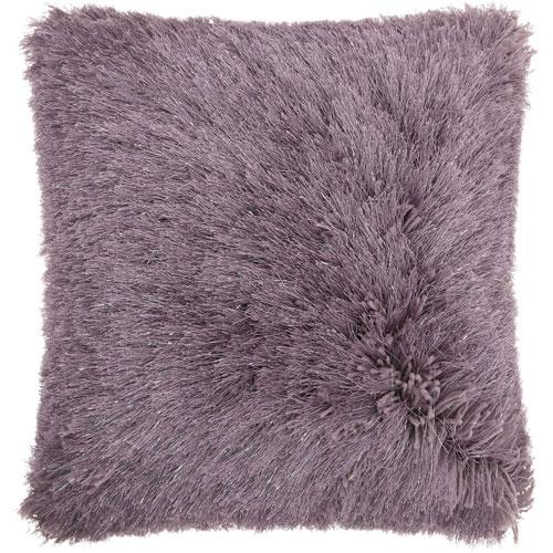 Shag Yarn Shimmer Shag Lavender 17 In. Throw Pillow