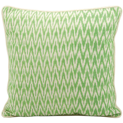 Life Styles Ikat Green 18 In. Throw Pillow