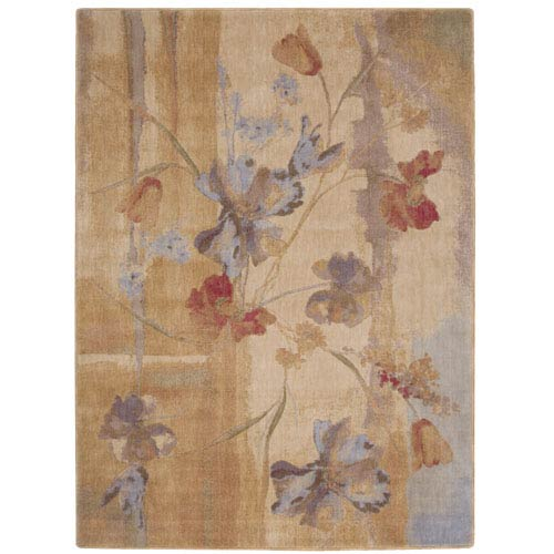 Nourison Somerset Beige Rectangular: 5 Ft. 6 In. x 7 Ft. 5 In. Rug