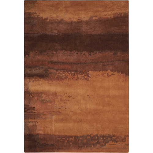 Luster Wash Amber Wash Copper Rectangular: 5 Ft. 6 In. x 8 Ft. Rug