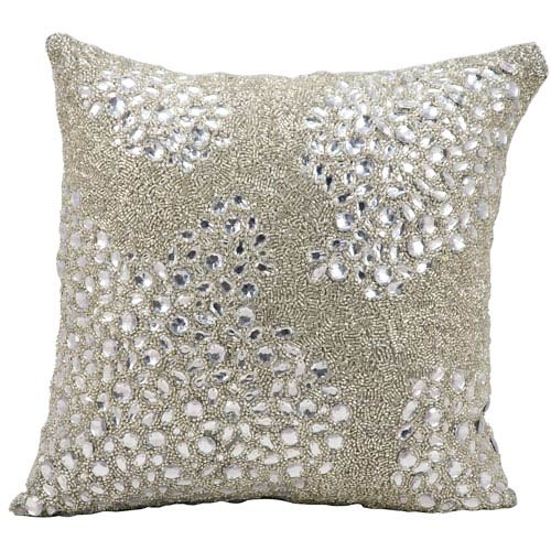 Luminecence Silver 16-inch Pillow