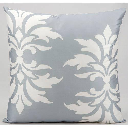 Grey 20-Inch Outdoor Pillow