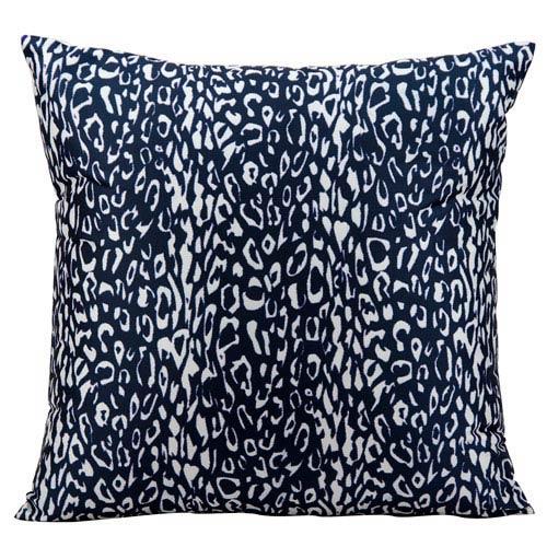 Nourison Navy 20 Inch Outdoor Pillow 798019015602 Bellacor