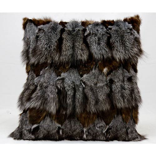 Fur Dark Grey 20-Inch Pillow