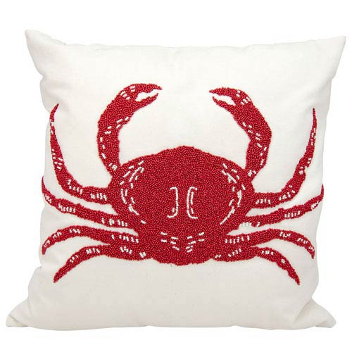 Nourison Red And White 18 Inch Outdoor Pillow 798019027407 Bellacor