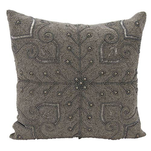 Nourison Lumin Persian Scroll Pewter 18-Inch Pillow