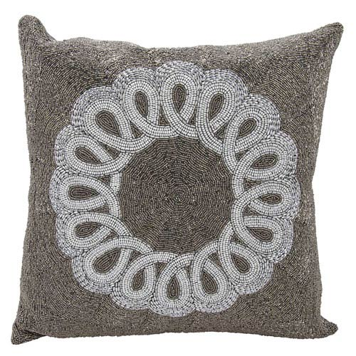 Lumin Infinity Center Scroll Pewter 20-Inch Pillow