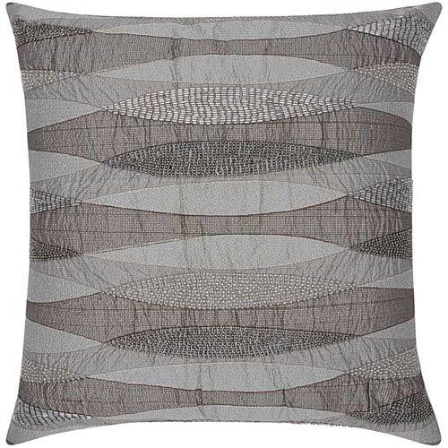 Nourison Lumin Geometric Infinity Pewter 18-Inch Pillow