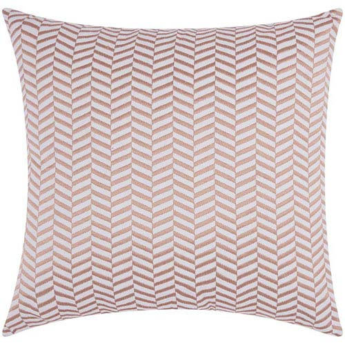 Nourison Lumin Alternative Chevron Rose Gold 20-Inch Pillow