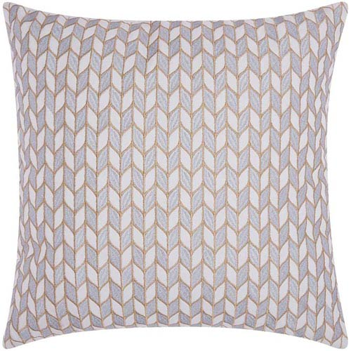 Lumin Block Chevron Silver and Gold 20-Inch Pillow