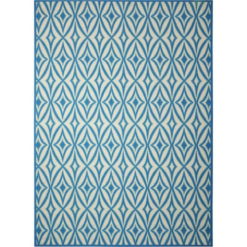 Nourison Sun And Shade Blue Rectangular: 5 Ft. 3-Inch x 7 Ft. 5-Inch Rug