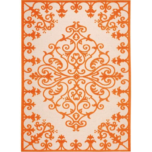 Aloha Orange Rectangular: 5 Ft. 3-Inch x 7 Ft. 5-Inch Rug