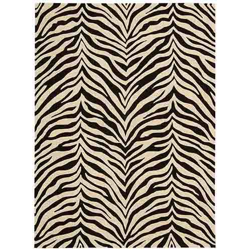 Zambiana Black and White Rectangular: 4 Ft x 6 Ft Rug