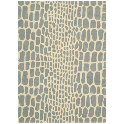 Zambiana Aqua Rectangular: 4 Ft x 6 Ft Rug