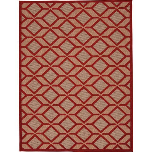 Nourison Aloha Red Rectangular: 2 Ft. 8-Inch x 4 Ft.  Rug