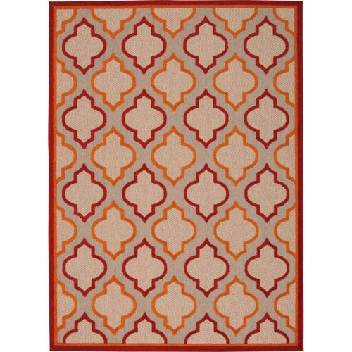 Aloha Red Rectangular: 2 Ft. 8-Inch x 4 Ft.  Rug