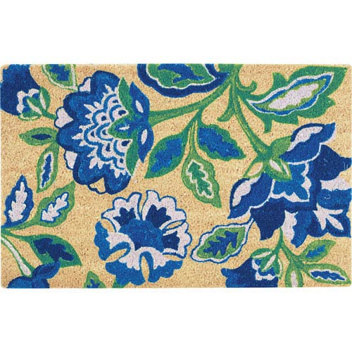 Nourison Greetings Blue Rectangular: 2 Ft.  x 3 Ft.  Rug