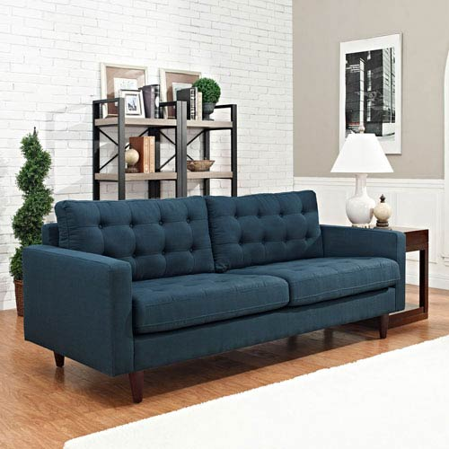 Empress Upholstered Sofa in Azure