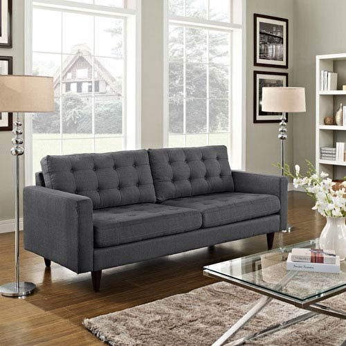 Empress Upholstered Sofa in Gray