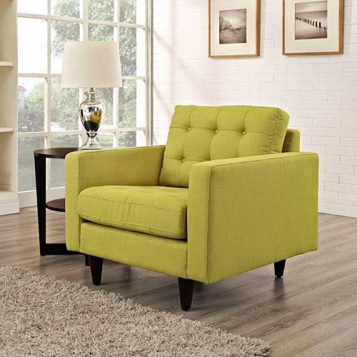 Empress Upholstered Armchair in Wheatgrass