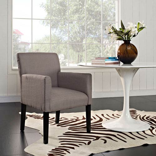 Modway Furniture Chloe Wood Armchair in Gray