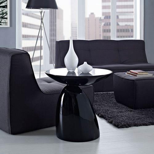 Modway Furniture Flow Side Table in Black
