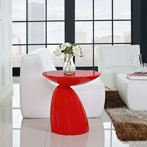 Flow Side Table in Red